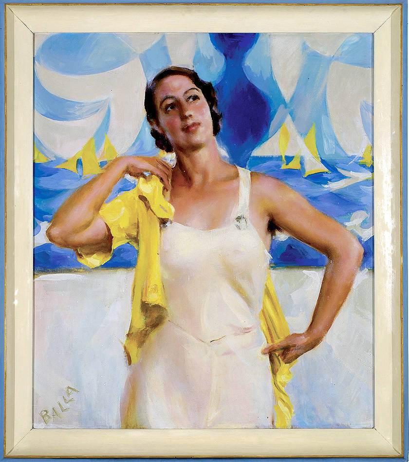 Giacomo Balla Figlia del sole 1933 olio su tavolamin