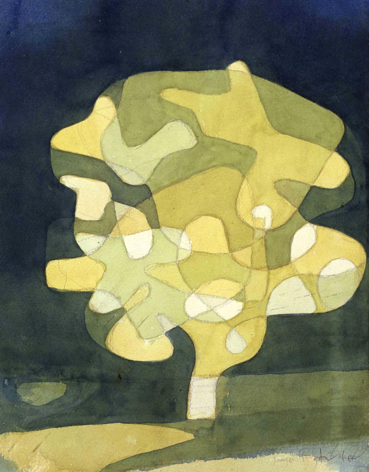 Feigenbaum 1929 Acquarello 33 X 258 CM Collezione privata m