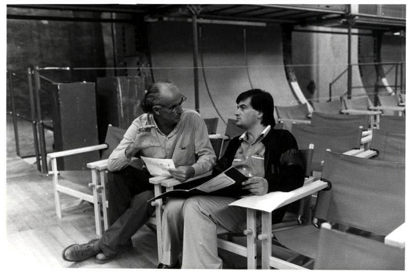 Fabbriciani con Luigi Nono 1984LucianoMorini