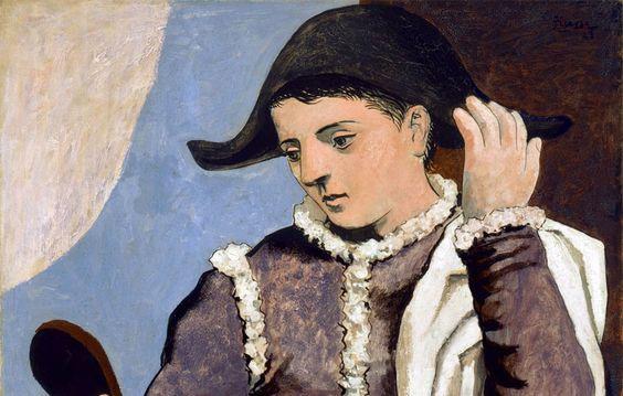 Picasso Arlecchino specchio