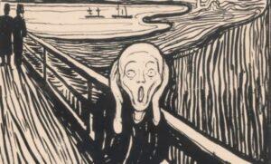 Litografia L'urlo Edvard Munch