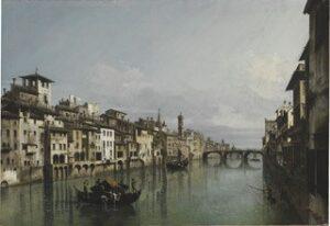 B. Bellotto, L'Arno dal Ponte vecchio fino a Santa Trinità e alla Carraia