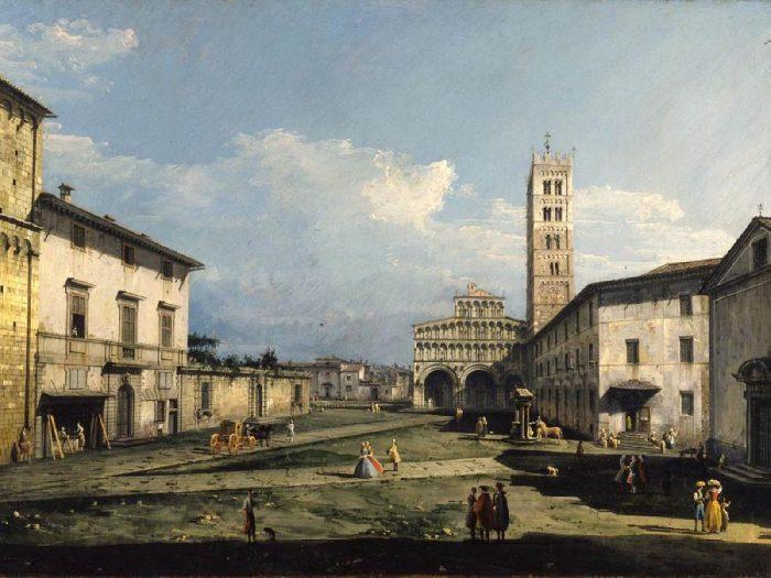 Bernardo Bellotto Piazza San Martino con la cattedrale, 1740 York, City Art Gallery